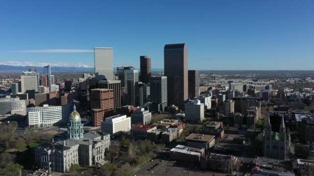 Aerial view of Denver Downtown Colorado