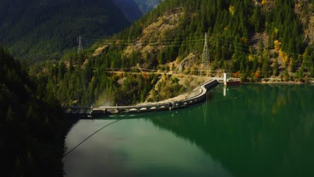 aerial view of Diablo Dam