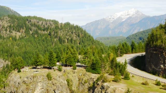 Aerial view of Diablo Lake