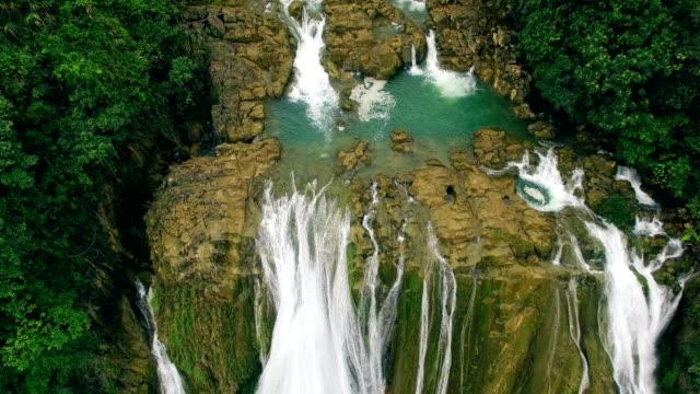 Aerial view of Dishuitan Waterfall,Anshun,Guizhou,China.