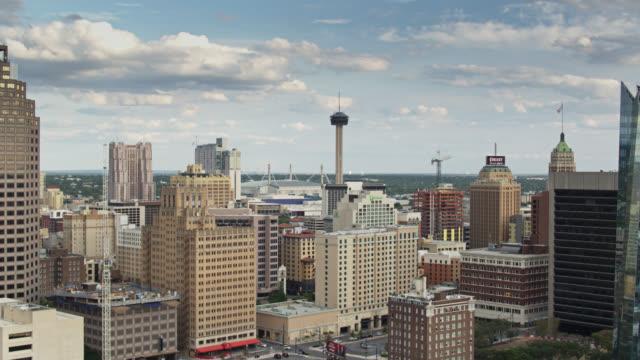 Aerial View of Downtown San Antonio, Texas video