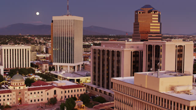 Aerial View of Downtown Tucson with Pima County Courthouse