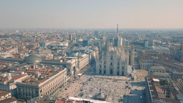 Aerial view of Duomo di Milano
