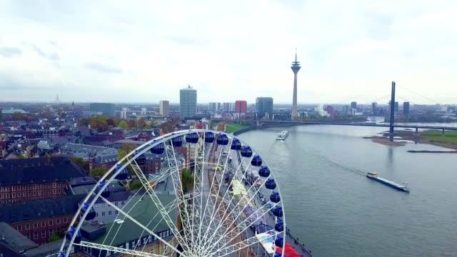 Aerial View of Dusseldorf - Germany