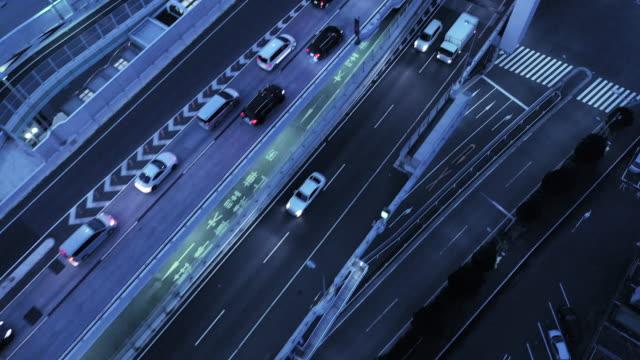 高架道路の空撮 - 渋滞点の映像素材/bロール