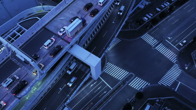 Aerial view of elevated road
