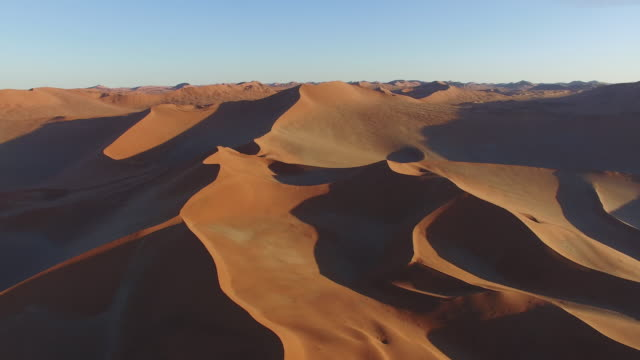 4K aerial view of endless sand dunes of the Namib desert inside the Namib-Naukluft National Park video