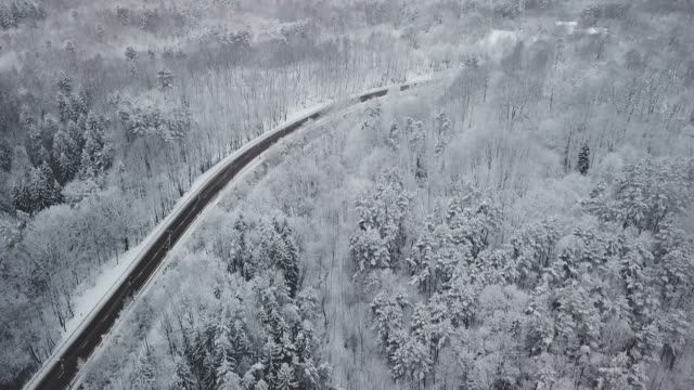 aerial view of expressway - lituania video stock e b–roll