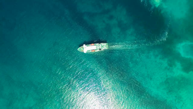 Aerial view of ferry in beautiful Adriatic sea video