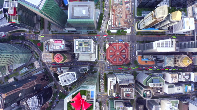 Aerial view of financial central business district building of Singapore Aerial view of financial central business district building of Singapore singapore architecture stock videos & royalty-free footage