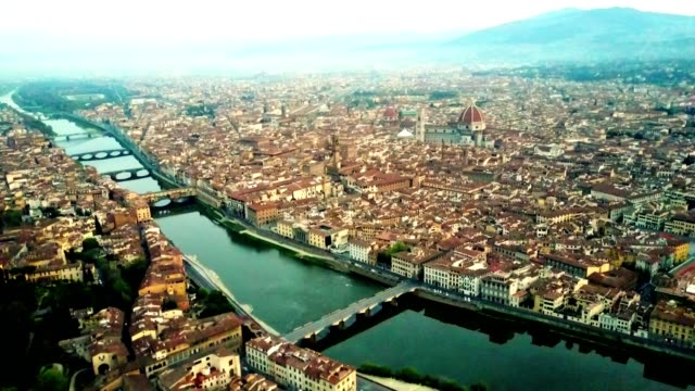 aerial view of Florence city in the early morning aerial view of Florence city in the early morning ancient architecture stock videos & royalty-free footage