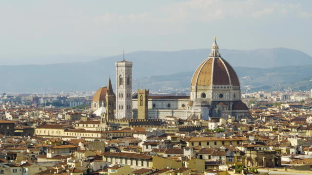Aerial view of Florence, tuscany, Italy. Flying over the Florence roofs