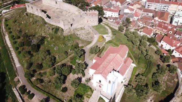 Aerial view of fortress in   Torres Vedras Aerial view of fortress in small Portuguese town Torres Vedras sorpresa stock videos & royalty-free footage