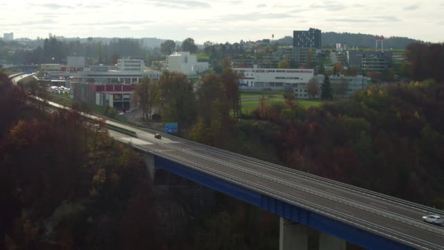 aerial view of Fribourg city video