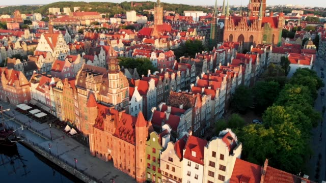 Aerial view of Gdansk, Poland. UHD, 4K Aerial view of Gdansk, Poland. UHD, 4K gdansk stock videos & royalty-free footage