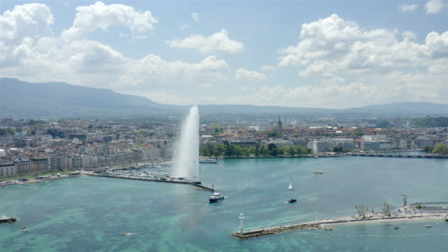 Aerial view of Geneva, Switzerland