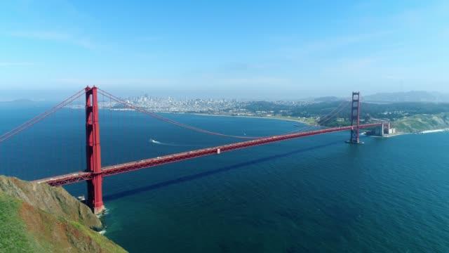 Aerial view of Golden Gate Bridge in San Francisco
