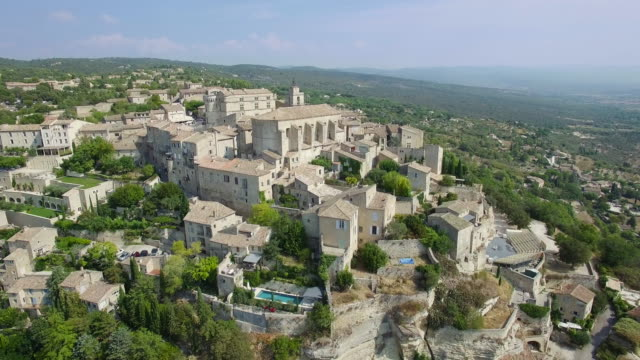 Aerial view of Gordes, labelled Most Beautiful Villages of France video