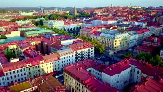 flyg utsikt över göteborg-sverige - gothenburg bildbanksvideor och videomaterial från bakom kulisserna