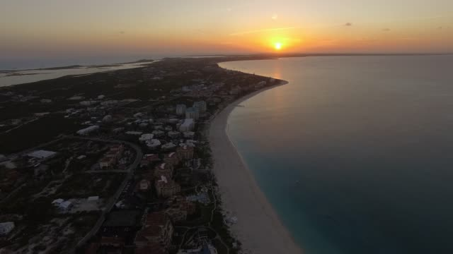 Aerial View of Grace Bay, Providenciales, Turks and Caicos Aerial View of Grace Bay, Providenciales, Turks and Caicos turks and caicos islands stock videos & royalty-free footage