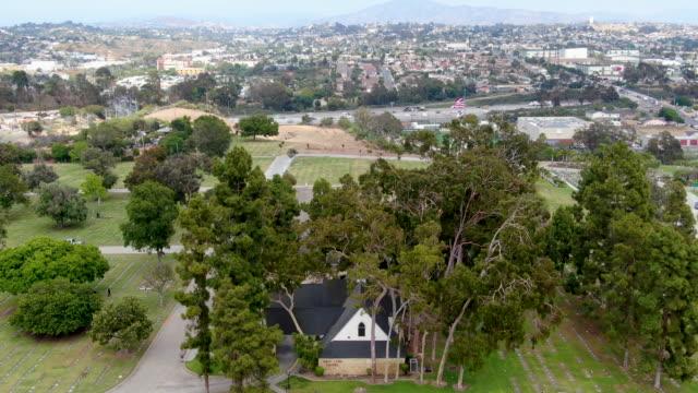 Aerial view of Greenwood Memorial Park & Mortuary.