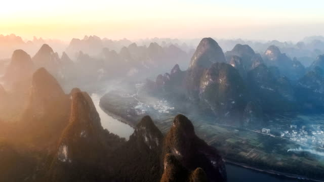 Aerial View Of Guilin Aerial View Of Guilin country geographic area stock videos & royalty-free footage