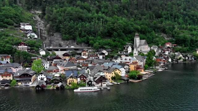 flygfoto över hallstatt - videor med salzburg bildbanksvideor och videomaterial från bakom kulisserna
