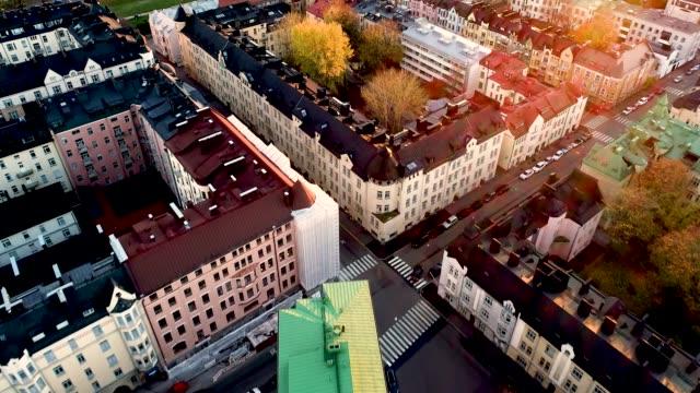 flygfoto av helsingfors stad. helsingfors finland. - drone helsinki bildbanksvideor och videomaterial från bakom kulisserna