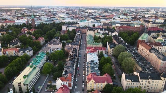Aerial view of Helsinki city. Helsinki Finland.