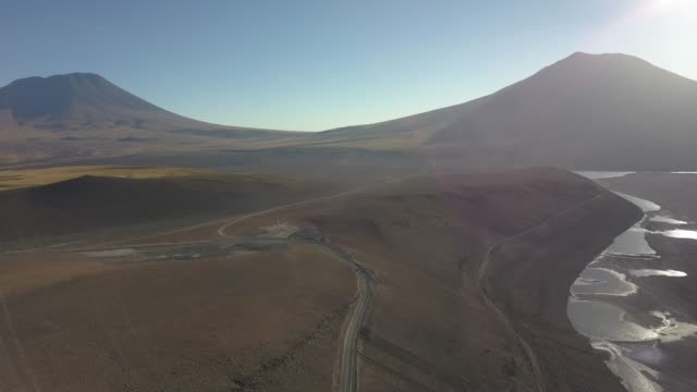 Aerial view of highway in Atacama, Chile
