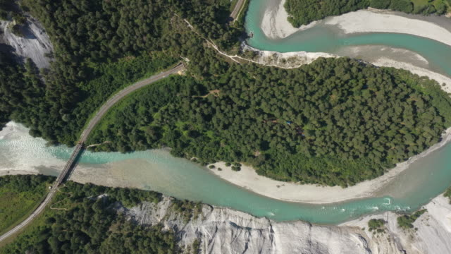 Aerial view of  hine Gorge or Swiss Grand Canyon