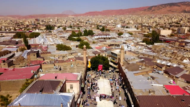 Aerial view of historical city Tabriz in time, Iran Aerial view of historical city Tabriz in time, Iran east stock videos & royalty-free footage