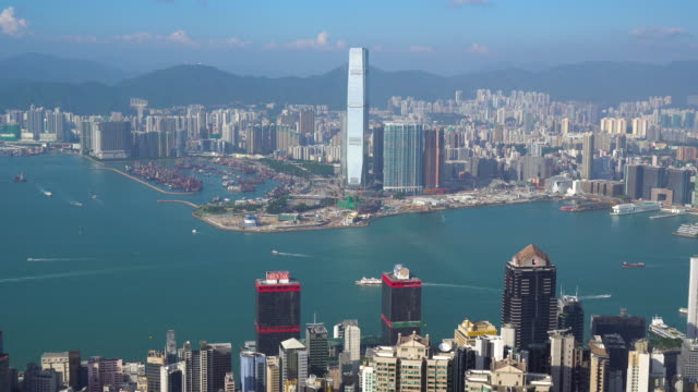 luftbild von hong kong - establishing shot stock-videos und b-roll-filmmaterial