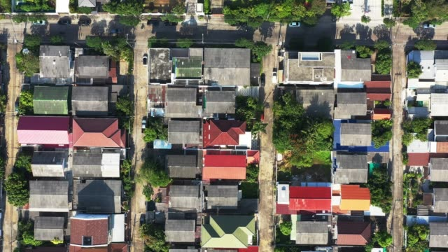 aerial view of houses. Directly above view of residential area aerial view of houses. Directly above view of residential area house rental stock videos & royalty-free footage