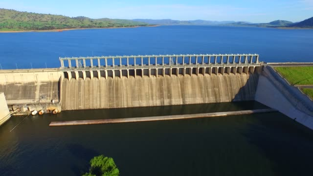 Aerial view of Hume Dam video