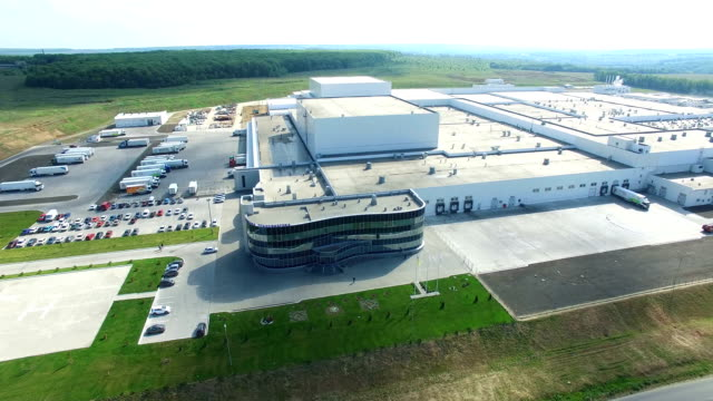 Aerial View Of Industrial Area video