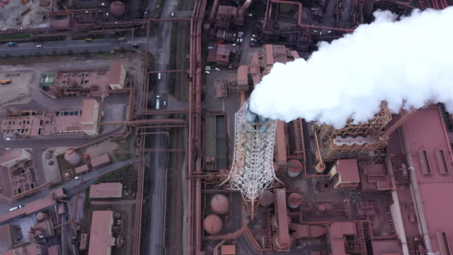 Aerial view of Iron works