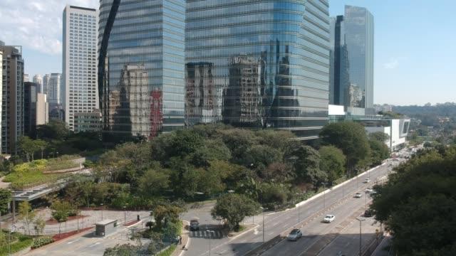 Aerial view of Itaim Bibi district in Sao Paulo Aerial view of Itaim Bibi district in Sao Paulo, Brazil marginal pinheiros stock videos & royalty-free footage