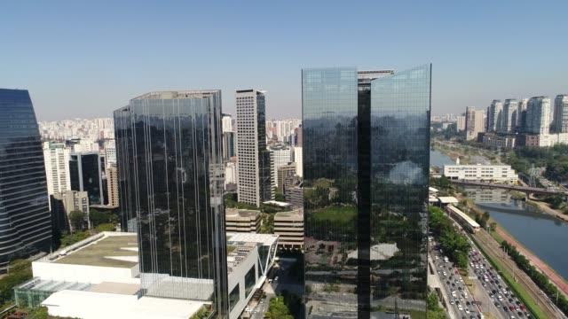 Aerial View of Itaim Bibi in Sao Paulo, Brazil Aerial View of Itaim Bibi in Sao Paulo, Brazil marginal pinheiros stock videos & royalty-free footage