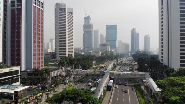 ジャカルタ市の上空からの眺め - インドネシア点の映像素材/bロール