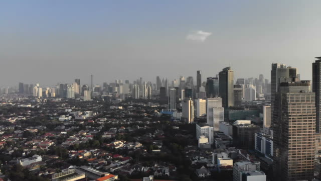 Aerial view of Jakarta Aerial view of Jakarta, Indonesia jakarta stock videos & royalty-free footage