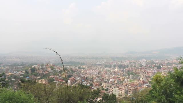 Aerial view of Kathmandu, Nepal video