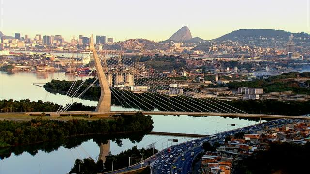 Aerial View Of Knowledge Bridge, Rio De Janeiro, Brazil video