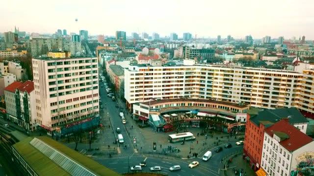 flygfoto över kreuzberg - tyskland - berlin city bildbanksvideor och videomaterial från bakom kulisserna