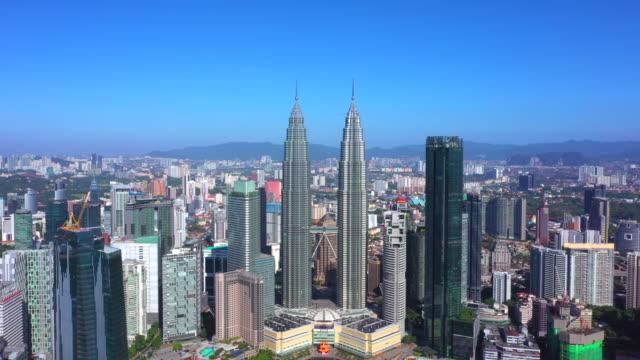 Aerial view of Kuala Lumpur city center skyline cityscape