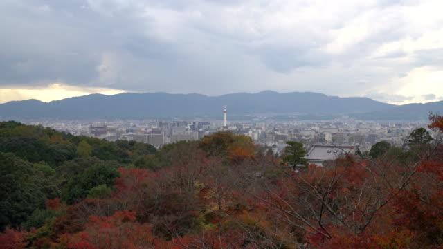 Aerial view of Kyoto City - Vidéo