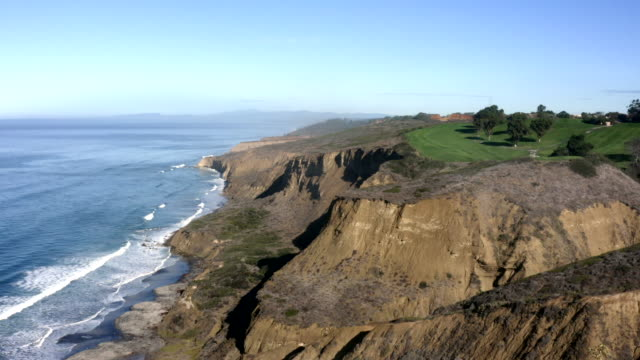 Aerial View of La Jolla Coastline, Cliffs and Beach in San Diego, California