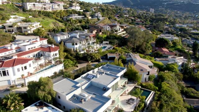Aerial view of La Jolla little coastline city. California, USA