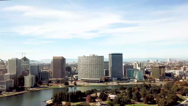 Aerial view of Lake Merritt Waterfront