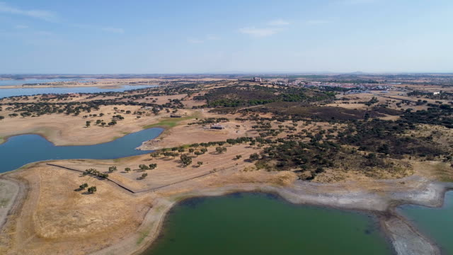 Aerial View of Lake video